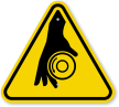 ISO Rotating Shaft Symbol Warning Sign