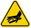ISO Skin Puncture, Pressurized Air Jet Symbol Sign