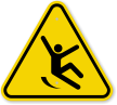 ISO Slippery Surface Symbol Warning Sign