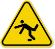 ISO Tripping Hazard Symbol Warning Sign