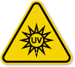ISO UV Light Hazard Symbol Warning Sign