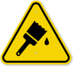 ISO Wet Paint Symbol Warning Sign
