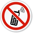 Keep Off Cell Phones Symbol ISO Prohibition Sign
