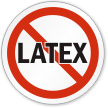 Latex Allergy ISO Prohibition Circular Sign