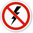 ISO Lightning and Thunder Storm Symbol Sign