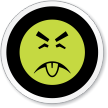 Mr. Yuck Symbol ISO Circle Sign
