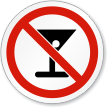 No Alcohol ISO Prohibition Sign