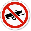 No Boat Trailer Symbol ISO Prohibition Circular Sign