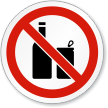 No Bottles Cans ISO Sign