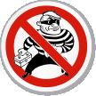 No Burglars Symbol ISO Prohibition Circular Sign
