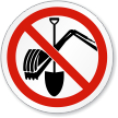 ISO Prohibition Circular Sign