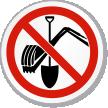 No Digging ISO Prohibition Circular Sign