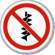 No Drilling Symbol ISO Prohibition Circular Sign