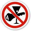 No Drink Drive ISO Sign