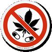 No Drugs Marijuana Leaf ISO Sign