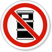 No Chemical Drum Symbol ISO Sign
