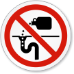Do Dumping (Drain) Symbol ISO Prohibition Circular Sign