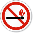 No Fire Or Open Flame ISO Sign