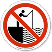 Fishing Prohibited On The Lockout Deck Sign