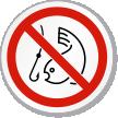 No Fishing Symbol ISO Prohibition Circular Sign