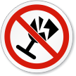 No Fragile Items Symbol ISO Prohibition Circular Sign