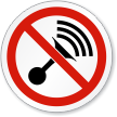 No Horn Symbol ISO Prohibition Circular Sign