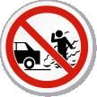 No Idling Engine Symbol ISO Prohibition Circular Sign