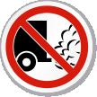 No Idling Symbol ISO Prohibition Circular Sign