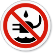 Do Liquid Near Plug Water ISO Sign