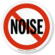 No Noise Symbol ISO Prohibition Circular Sign