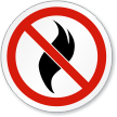 No Open Flame ISO Sign