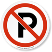 No Parking ISO Prohibition Sign