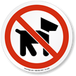 No Pets Allowed Symbol ISO Prohibition Circular Sign