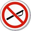 No Police Baton ISO Sign
