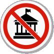 No Politics Symbol ISO Prohibition Circular Sign