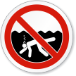 No Prolonged Underwater Swimming Or Breath Holding Sign
