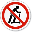 No Scooters ISO Prohibition Sign