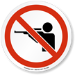 No Shooting ISO Prohibition Sign