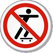 No Skateboarding Symbol ISO Prohibition Circular Sign