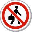 No Soliciting Symbol ISO Prohibition Circular Sign