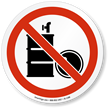 No Solvent in Drums ISO Sign