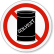 No Solvent ISO Prohibition Sign
