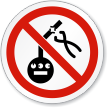No Tampering Meter Symbol ISO Prohibition Circular Sign