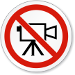 No Video ISO Prohibition Sign