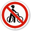 Do Not Walk Your Bike ISO Prohibition Sign