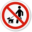 No Walking Dogs ISO Sign