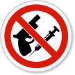 No Weapons And Drugs Symbol ISO Sign