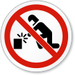No Welding Symbol ISO Prohibition Sign