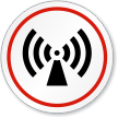 Non-Ionizing Radiation Symbol ISO Circle Sign