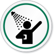 Safety Shower Symbol ISO Circle Sign
